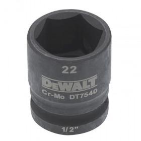 Cheie tubulara de impact 1/2 DeWalt 22 mm - DT7540