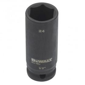 Cheie tubulara de impact adanca 1/2 DeWalt 24 mm - DT7557