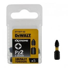 Set 5 capete de torsiune PZ2 25mm DeWalt - DT7387T