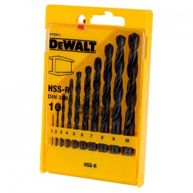 Set 10 burghie metal HSS-R Dewalt 1-10mm - DT5911