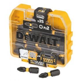 Set Tic Tac 25x PZ2 25mm de impact Flextorq DeWalt - DT70556T