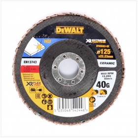 Disc lamelar XR FlexVolt pentru polizare inox 125x22.23mm 40gr DeWalt - DT99583