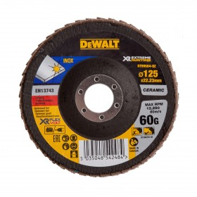 Disc lamelar XR FlexVolt pentru polizare inox 125x22.23mm 60gr DeWalt - DT99584