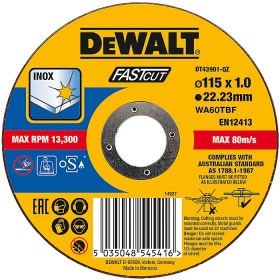 Disc taiere inox 115x1x22.23mm DeWalt - DT43901