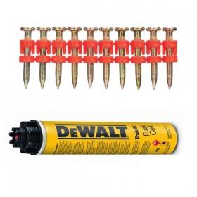 Cuie galvanizate 25x2.6mm + cartus gaz C5 DeWalt - DDF6110100