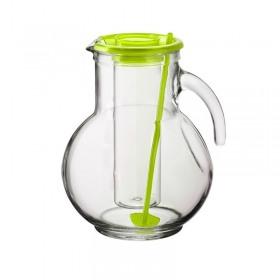 Carafa din sticla cu tub de gheata verde Bormioli Kufra 2 L
