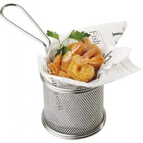 Cos servire cartofi prajiti inox APS 9 x 8.5 x 6.5 cm