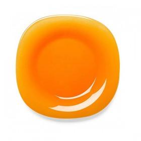 Farfurie adanca sticla portocalie Bormioli Venezia 23 cm