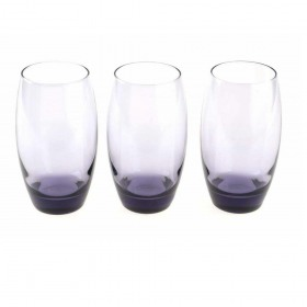 Set 3 pahare long drink mov Pasabahce Barrel 500 ml