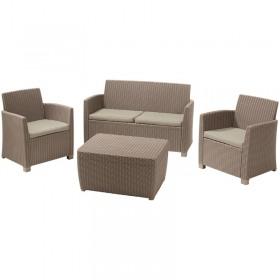 Set mobilier gradina Keter Corona Cappuccino