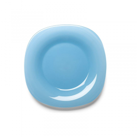 Farfurie desert sticla Bormioli Venezia albastru 21 cm