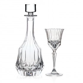 Set lichior RCR Adagio (decantor 750 ml + 6 pahare 350 ml)