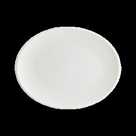Platou oval portelan Bonna Iris White 31 x 24 cm