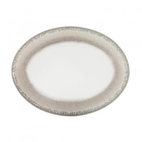 Platou oval portelan Ionia Apeiron beige 36.4 cm