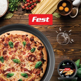 Tava adanca pizza teflon Fest Magic 26 cm