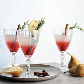 Set 6 pahare vin rosu cu picior Pasabahce Diamond 245 ml