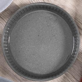 Vas termorezistent rotund Pasabahce Borcam 1.72 L Granit gri inchis