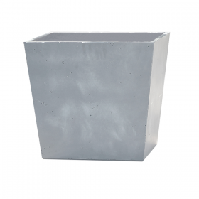 Ghiveci patrat gri fara farfurie Keter Beton 48 cm