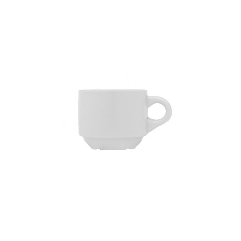 Ceasca espresso portelan Yalco Blanco Stackable 96 ml