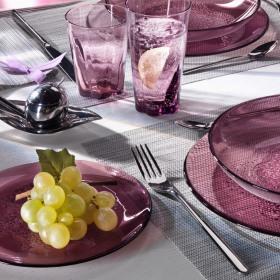 Farfurie desert sticla Bormioli Hya Purple 20 cm