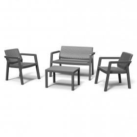 Set mobilier gradina graphite fara perne Keter Emily Patio