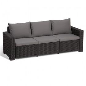 Canapea cu 3 locuri graphite Keter California