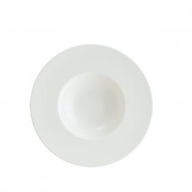 Farfurie paste adanca portelan alba Bonna Iris White 28 cm