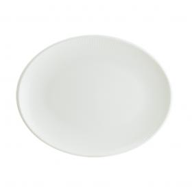 Platou oval portelan Bonna Iris White 36 x 28 cm