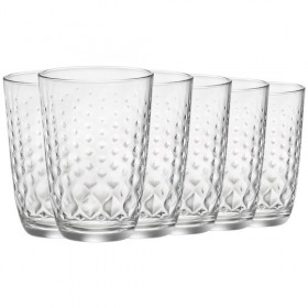 Set 6 pahare Long Drink Bormioli Glit 395 ml