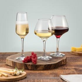 Set 18 pahare vin alb, vin rosu, sampanie Pasabahce Risus