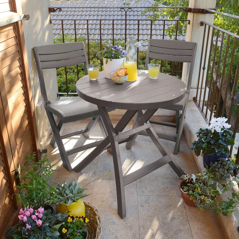 Set Mobilier Balcon Masa Scaune Cappuccino Jazz