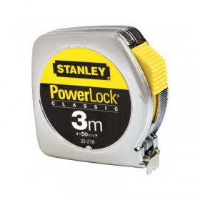 Ruleta PowerLock® Stanley cu carcasa metalica 3m X 12.7mm - 0-33-218