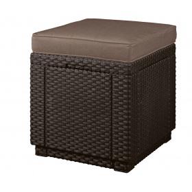 Cutie depozitare gradina patrata maro Keter Cube