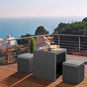 Cutie depozitare gradina tip scaun patrata graphite Keter Cube