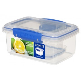 Set 2 cutii depozitare alimente Sistema KLIP IT 1L si 0.4L