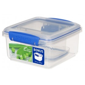 Set 2 cutii depozitare alimente Sistema KLIP IT 1.2L si 0.4L