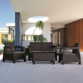 Set mobilier gradina maro Keter Bahamas