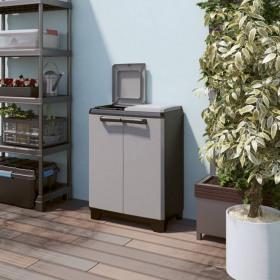 Dulap 2 usi pentru reciclare gri Keter Split Premium 110 L