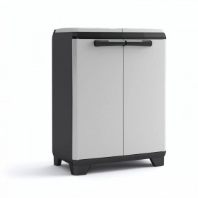 Dulap 2 usi pentru reciclare gri Keter Split Basic 68x39x85 cm