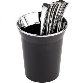 Cos pentru tacamuri bufet negru APS 13 cm 1 L