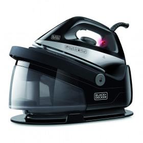 Statie de calcat negru Black+Decker 2400 W