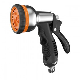 Pistol Claber 96220000 pentru udat cu 8 functii metal cromat