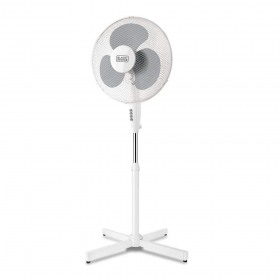 Ventilator alb cu picior Black+Decker 40 W