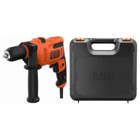 Masina de gaurit si insurubat cu percutie Black+Decker 500 W + Kit Box - BEH200K