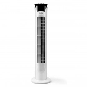 Ventilator turn alb fara telecomanda Black+Decker 81 cm 45 W