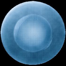 Platou sticla albastru Bormioli Inca 31 cm