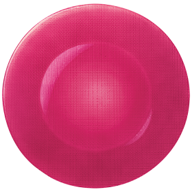 Platou sticla rosu Bormioli Inca 31 cm