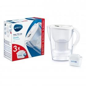 Cana filtranta Marella Starter pack 2.4 L (white) + 3 filtre Maxtra+ - Brita