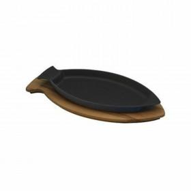 Tava pentru peste cu platou de servire lemn 20 x 32 cm - Lava