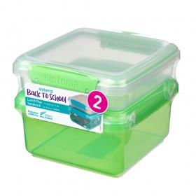Set 2 cutii depozitare alimente plastic Sistema Lunch Plus 1.2 L si Sandwich To Go 450 ml